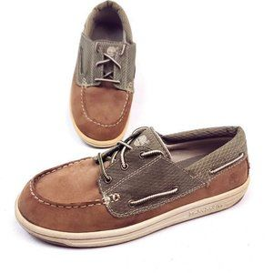 Timberland Mens Size 5 Boat Shoes Brown Gray
